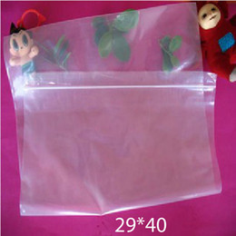 clear pouches zipper NZ - 29x40cm 100pcs clear PE bag-thick transparent ziplock poly bags, resealable zipper grip seal clothing plastic packaging pouch