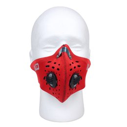 Discount gas masks wholesale - Sports Skiing Mask Dustproof Mask Activated Carton Filtration Exhaust Gas Professional Mask for Cycling Racing Outdoor S
