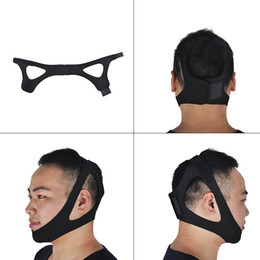 sleep apnea devices Australia - Black Anti Snoring Chin Strap Neoprene Stop Snoring Chin Strap Support Belt Anti Apnea Jaw Solution Sleep Device New Design 0613018