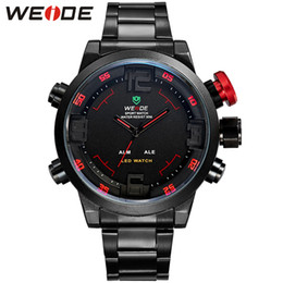 sport weide led watch 2019 - Hot WEIDE Watches Men's Casual Watch Multi-function Led Watches Men Dual Time Zone With Alarm Sports Diver Quartz W