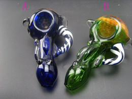 Smoking Mini Hammer Pipe Canada - Wholesale colorful Mini Glass Pipes Glass Tobacco Pipes Glass smoking Pipes Handmade Pipes hammer Pipes mixed colors