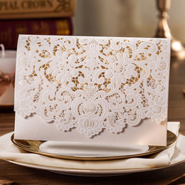$enCountryForm.capitalKeyWord Canada - Laser Cut Wedding Invitations Card with Embossed Flower Printable Paper Cards Engagement Marriage Bride Shower Invites Envelope Seal CW073