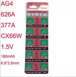 relógio da bateria 377 SR626SW AG4 LR626 6.8 * 2.6mm 20 MAH 1.55 V Alcalina relógio Acessórios Atacado bateria Eletrônica bateria de botão