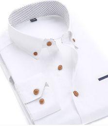 $enCountryForm.capitalKeyWord Canada - Quality Plus Size Professional Men Dress Shirt Long Sleeve Fashion Moisture Wicking Slim Fit Soft Business Shirts Men Clothing Factory Sale