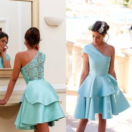 Barato Vestidos De Menta Vintage-2016 Summer Mint New Short Mini Cocktail Dresses 8th Grade Dance Girls Back to School Dezesseis Graduação Homecoming Teens Ball Prom Gowns