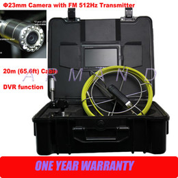 Cámara impermeable de la inspección de la alcantarilla del tubo del CCTV del vídeo con el transmisor de la sonda de DVR 512Hz (función de la ubicación)