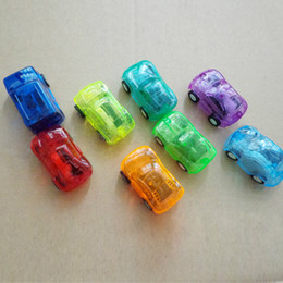 $enCountryForm.capitalKeyWord Australia - Zorn toys-Mini Pull back car Transparent Candy colors Plastic car Racing Car model Model Vehicle 5*3*2cm 8 colors Free shipping wholesale