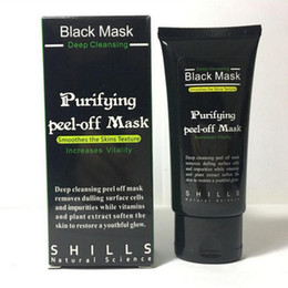 Face Mask Clean Pores Australia - 50ml SHILLS Purifying Peel Off Black Mask Blackhead Remover Deep Cleansing Face Pore Cleaner Acne Treatment Facial Mask