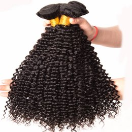 Afro Hair Extensions Bundles Australia - Malaysian Hair Bundles Afro Kinky Curly Hair Weave Bundles Human Non Remy Hair Extension Can Buy 3 or 4 Pieces