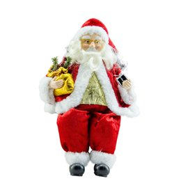 $enCountryForm.capitalKeyWord UK - Christmas Decorations Sit Santa Claus Doll Festival Site Layout Prop Large and Small Size 52cm Party Gift For Chris Days