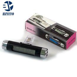 36b7ff467a67 Car LCD reloj electrónico digital auto reloj clip de coche termómetro luz de  fondo azul luminoso (Sin batería) K-01 Envío gratis