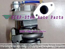 1pc Twin Turbo CT12A 17201-46010 17208-46010 Turbocompresor para TOYOTA Soarer Supra Chaser Cresta Mark 2; Lexus 220D 1JZ-GTE 2.5L en venta
