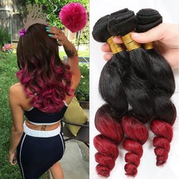Red hair extensions for weave canada best selling red hair 9a malaysian dark root 1b red ombre hair extensions loose wave 1b red human hair weaves weft 3pcs lot for black woman pmusecretfo Choice Image