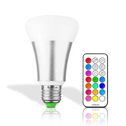 Chinese  10W E27 E26 RGB RGBW LED Bulb Stage Lamp 12 Colors with Remote Control LED Light Timing Function AC85-265V RGB+Cool White Christmas Decor manufacturers