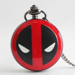 $enCountryForm.capitalKeyWord Canada - 2016 X men Deadpool watch black quartz pocket watches pendant necklaces for men women Fob Watches super hero fashion jewelry 230149