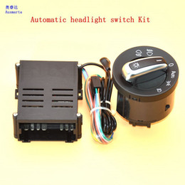 Venta al por mayor de 2 Unids Interruptor de luces de Coche + cromo auto sensor de luz para VW Passat B5 Lavida Bora Polo Golf 4 nuevo Jetta Santana Beetle 5ND941431B