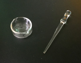 oil dab straw 2019 - Oil Ring Ashtray Dish Glass Ashtray Dish&Tips Dabber Dish for Nectar Collector Honey Dab Straw Glass Bongs Water Pipe ch
