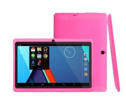 Cheap Quad Core Pc NZ - Q88 7 Inch Android 4.4 Tablet PC ALLwinner A33 Quade Core Tablet Dual Camera 4GB 512MB Capacitive Cheap Tablets 50pc