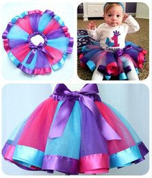 Robes De Ballet De Danse Enfantine Pas Cher-3pcs / lot 2016 Tutu Jupes Robes enfants Danse Tulle Tutu Jupes Pettiskirt Dancewear Ballet Robe de nouveau-né Toddler Baby Girl Enfants
