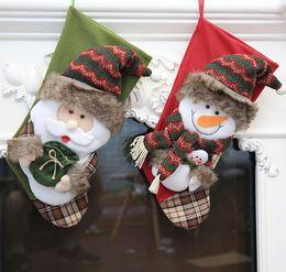 Foot Long Socks Canada - Christmas Decoration Stocking Large Long-legged Christmas Stockings Gift Bags Decoration Xmas Socks Candy Bag Decor items QY-051