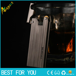 men gifts gadgets UK - Honest brass case gas lighters Metal fire ignition smoking cigarette lighter gadgets for men with gift box