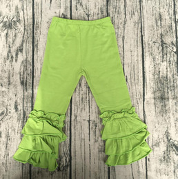 2a3b46f1fe822 cheap wholesale children lime icing pants elastic waist icing Leggings baby  leggings triple ruffle boutique clothing