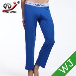white sheer pants 2019 - Wholesale-WJ pajama pants for men sheer mens pants pantalones largos ajustados hombre loose elastic band modal spandex p