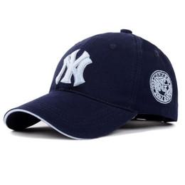 69f37b4720b Baseball Cap NY Embroidery Letter Sun Hats Adjustable Snapback Hip Hop  Dance Hat Summer Outdoor Men Women White Black Navy Blue Visor