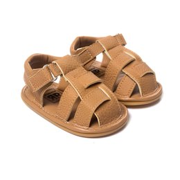 Chinese  Summer Kids Baby Girls Boy Beach Moccasins Leather Sandal First Walker Shoes Infant Prewalker Toddler Shoes Children Footwear Baby First Wal manufacturers