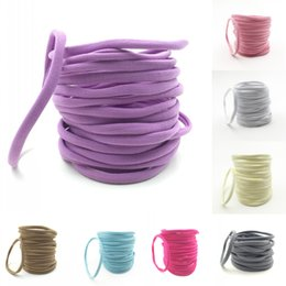 Étirement En Gros Pas Cher-Baby Nylon Headband Soft Stretch Head Wrap Elastics Grossiste Baby Girl Nylon Headbands Photographie Props QueenBaby