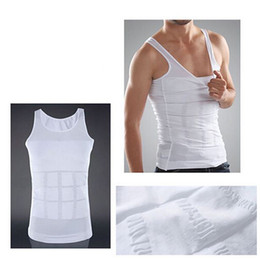 Barato Roupa Interior Da Barriga Dos Homens-Hot Men's Sexy Slimming Tummy Body Shaper Belly Fatty Thermal Slim Lift Underwear Homens Sport Vest Shirt Shapewear Reducers Men's OPP BAG