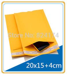 $enCountryForm.capitalKeyWord Canada - 20PCS 20x15+4cm Yellow Color Kraft Paper Bubble Envelope Bag Mailers wthout printing