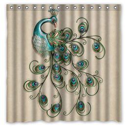 pretty peacock design shower curtain size 180 x 180 cm custom waterproof polyester fabric bath shower curtains