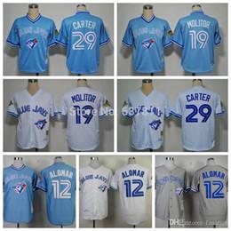 d3f73d80c ... 2015 New Toronto Blue Jays Throwback Baseball Jersey 19 Paul Molitor 12  Roberto Alomar 29 Joe ...