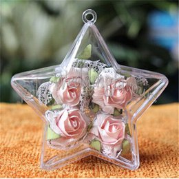 $enCountryForm.capitalKeyWord NZ - FREE SHIPPING 50PCS Ornament Transparent Clear Plastic Star Candy Box Wedding Home Decoration Creative Christmas Supplies