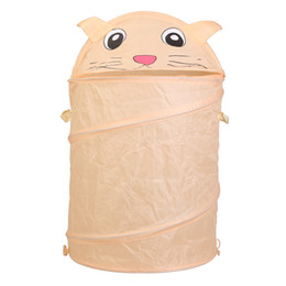 $enCountryForm.capitalKeyWord UK - Home decor home Storage Bucket Folding Cylinder Laundry Basket Cartoon Animal Cat patten Toy Box free shipping order<$18no track