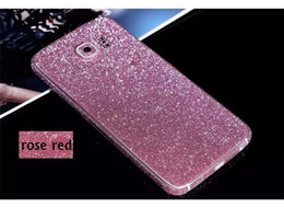 Rhinestone Case For S5 Canada - Full Body Glitter Sticker Rhinestone Front Back Side bling sticky Films For Samsung Galaxy S6 S7 edge S4 S5 Note 3 4