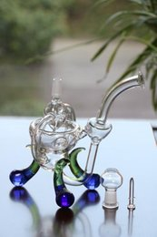 $enCountryForm.capitalKeyWord NZ - 23cm Tall Glass Recycler Oil Rigs Glass Bongs concentrated Hookahs Bongs Water Pipes dabbers Glass bongs with tyre perc Joint 14.4mm