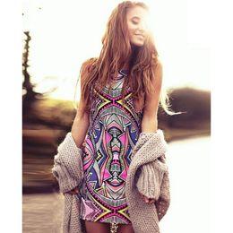 $enCountryForm.capitalKeyWord Canada - 2016 Summer Style Women New Fashion Vintage Geometric Print Mini Boho Dress Sexy Casual Party Beach Dresses Plus Size Boho Hippie Vestido