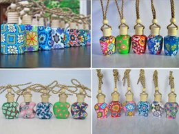 perfumes 2019 - Fashion Hot 15 ml Car hang decoration polymer clay essence oil Perfume bottle Hang rope empty bottle discount perfumes