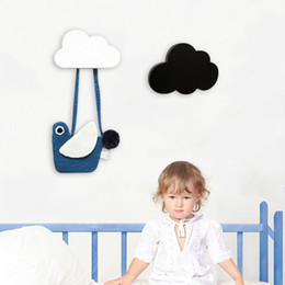 $enCountryForm.capitalKeyWord Canada - Cute Wooden Cloud Hook For Kids Room Wall Mounted Clothes Bag Robe Rack Eco Friendly Hanger Bathroom Living Room Decor