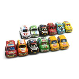 China 12PCs Set Car Toys Baby Children Racing Mini Cars Cartoon Educational Toys Mini Cars Cartoo cheap cartoon race car suppliers