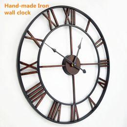 handmade oversized 3d retro roman wrought iron vintage large decorative wall clock big on wall