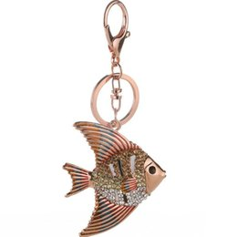 New Creative Animal Charm Keyrings Top Quality Gold Plated Full Rhinestone  Fish Keychains For Women Jewelry 2016 Wholesale 91e91d2b7