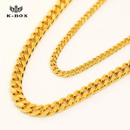 54ea3769b9987 chrismas gift AAAAAA 24K 3mm 5mm 24 30 inch Wide Solid Gold Plated Small  Miami Cuban Curb Link Chain men chain Necklac men necklace