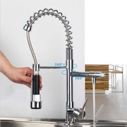vessel mixer tap UK - Kitchen Faucet Chrome Spring Swivel Spout Single Handle Vessel Sink Mixer Tap