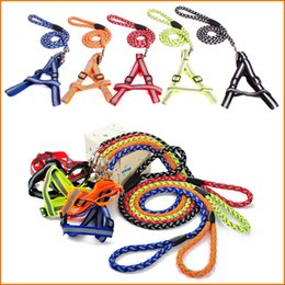 Product Walk Canada - Braid Reflective Dog Puppy Harness & Walking Leash pet dog colars 5 Colors 3 Size Pet Products wholesale