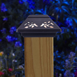 b5e629747f699 Warm White Solar Power Projection LED Solar Light Outdoor Garden Landscape  Lawn Yard Path Stud Pillars Cap Light Lamp Q0260