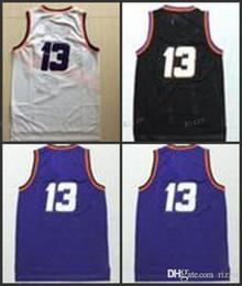 ... WITH REAL NAME Men 13 Steve Nash Jersey Throwback 10 Steve Nash  Basketball Jerseys Cheap Vintage ... 3a473b508