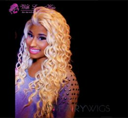"""Deep Curly Indian Lace Wig Australia - 9A #613 Blonde Full Lace Wigs 130% Density Brazilian deep Wave Full Lace Hair Wigs 10""""-20"""" Lace Front Wig With Baby Hair"""